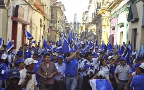 Marcha del MAS en Tarija. Foto Archivo