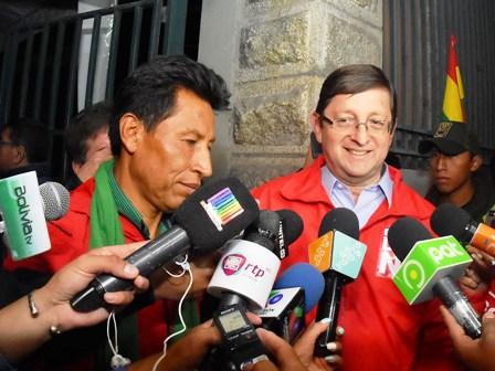 LA PAZ 28-11-2018- Oscar Ortiz y Edwin Rodriguez presentan Binomio por Democratas En instalaciones del Tribunal Supremo Electoral.