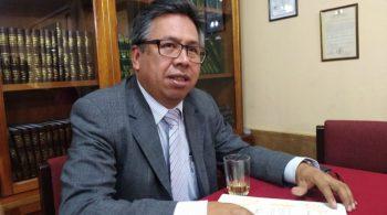 El dirigente de los médicos, Luis Larrea