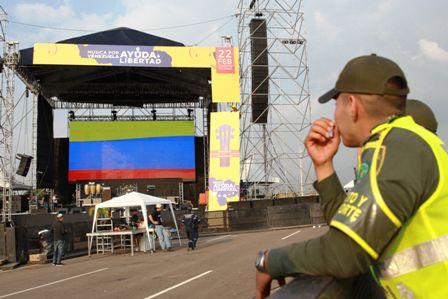 Preparativos para el concierto Venezuela Aid Live