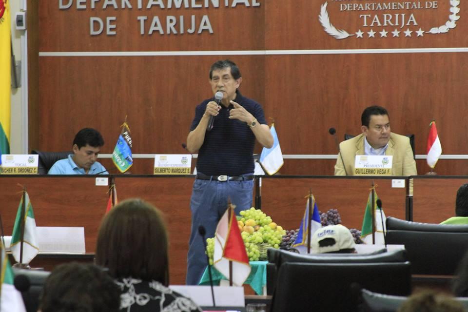 Never Vega, Subgobernador de Bermejo, en la Asamblea Departamental