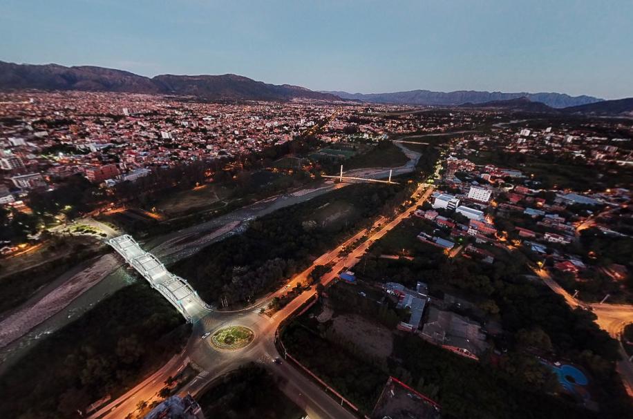 Vista Aérea de la ciudad de Tarija