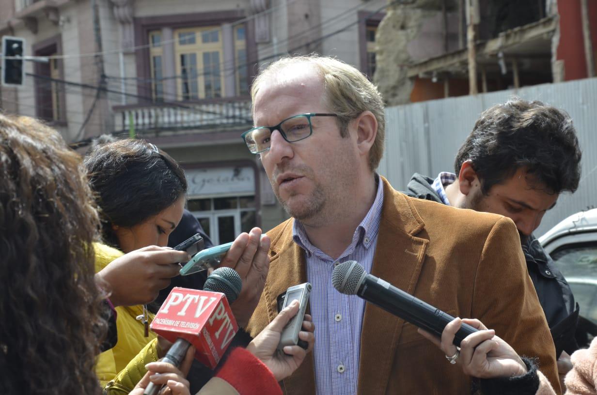 El Gobernador de Tarija, Adrian Oliva
