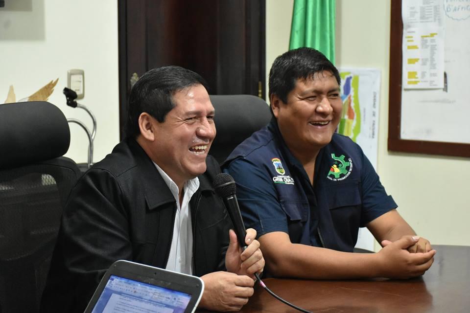 Ramiro Vallejos, Alcalde de Yacuiba y José Quecaña, Ejecutivo Regional