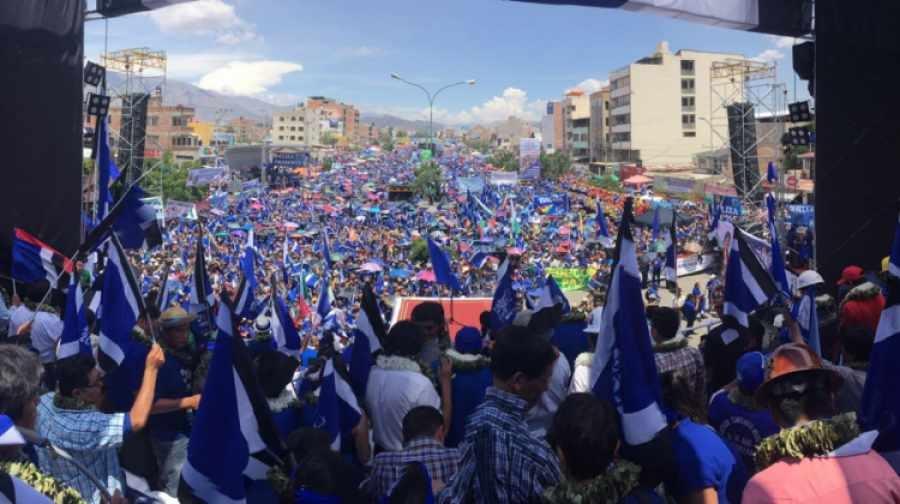 Acto de proclamación a Evo Morales en Cochabamba (2017).