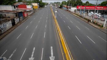 Las calles de Managua, vacías por el paro (EFE)