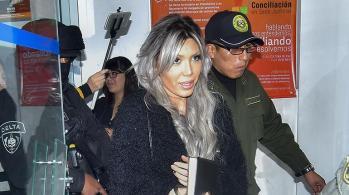 Gabriela Zapata sale de una de sus audiencias. | Foto de archivo | APG