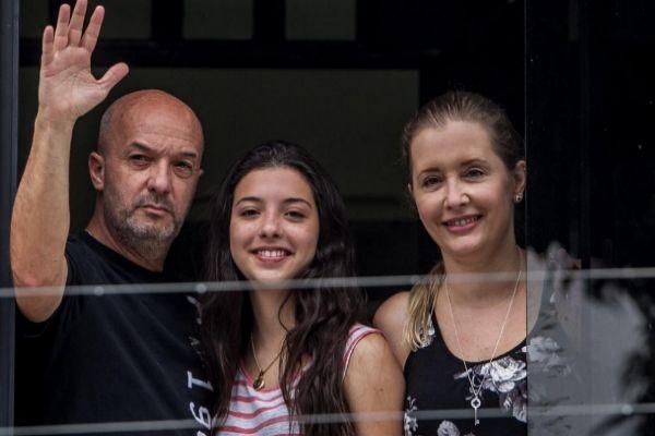 Iván Simonovis, su esposa Bonny y su hija Ivana, en una imagen de archivo. EFE