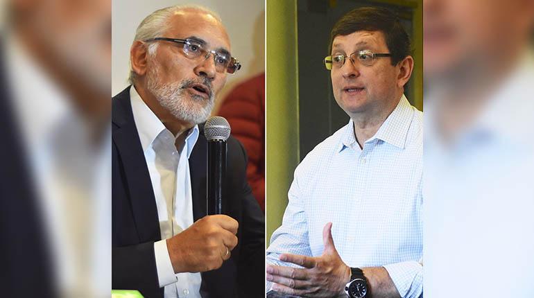Los candidatos opositores Carlos Mesa y Óscar Ortiz. | APG