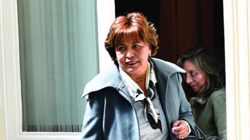 Nardi Suxo, exministra de Transparencia. Foto-Freddy Barragán : Página Siete