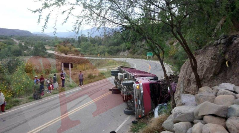 Un muerto y tres heridos dejó un fatal accidente este sábado en Tarija : Foto ANDALUZ