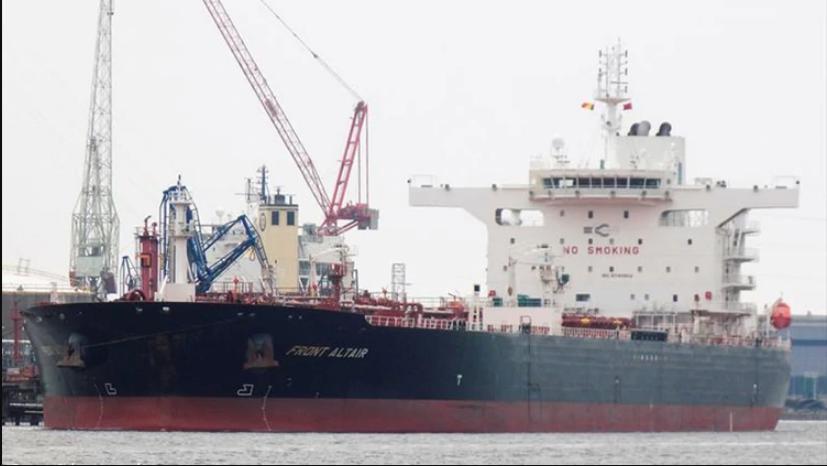 El petrolero MT Front Altair, con bandera de las Islas Marshall (Patrick Veerecke, MarineTraffic)