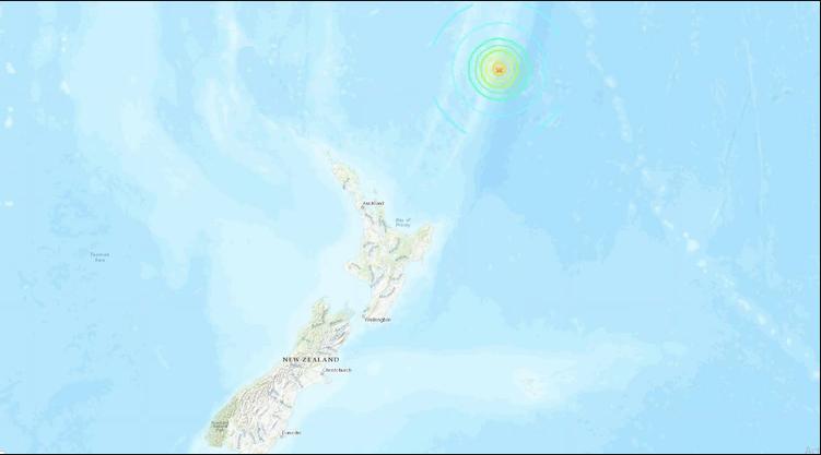 Un sismo de magnitud 7,4 sacudió al norte de Nueva Zelanda