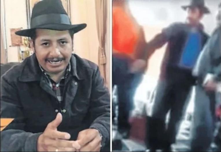 El Gobernador de Chuquisaca, Esteban Urquizu