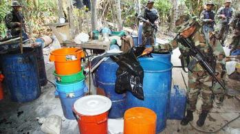 Operativo de interdicción de la Fuerza Especial de Lucha Contra el Narcotráfico. | Daniel James