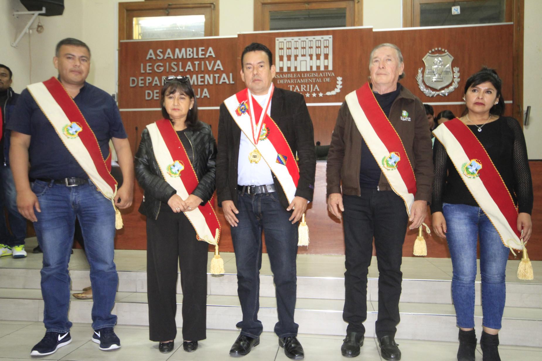 Nueva directiva de la Asamblea Departamental de Tarija (gestión 2019-2020)