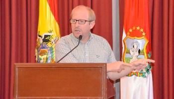 Adrián Oliva, Gobernador de Tarija. Foto archivo