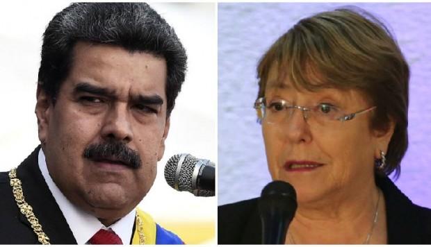 """El informe de la oficina de Michelle Bachelet señalará las """"graves vulneraciones de derechos"""" en Venezuela, y pedirá a Nicolás Maduro poner freno a los abusos de las fuerzas de seguridad y de los colectivos. (Foto- AFP) .jpeg"""