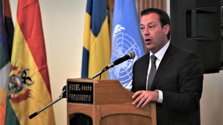 El Representante de la Unodc, Thierry Rostan. | ONU Bolivia