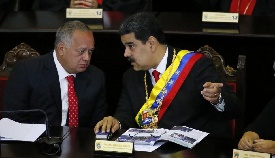 Estados Unidos ha iniciado comunicaciones secretas con el líder socialista Diosdado Cabello mientras funcionarios cercanos al presidente Nicolás Maduro. (AP)