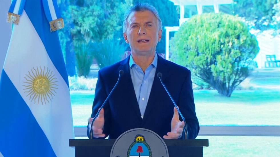 Mauricio Macri, en rueda de prensa, este miércoles. REUTERS : EPV