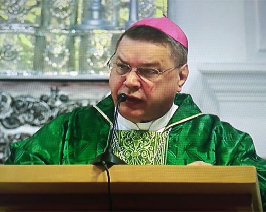 Obispo Auxiliar monseñor Stanislaw Dowlaszewicz. Foto/captura de pantalla