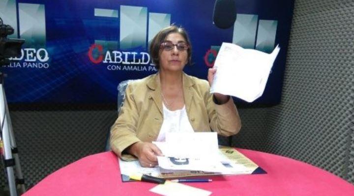 La reconocida periodista, Amalia Pando