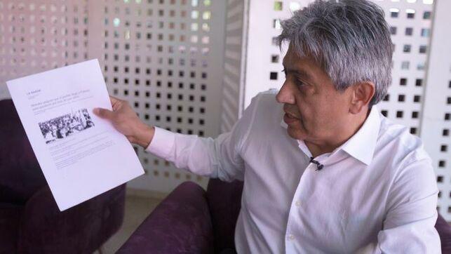El exgobernador boliviano Mario Cossío habla durante una entrevista con Efe, el 14 de agosto de 2019, en Brasilia (Brasil). EFE