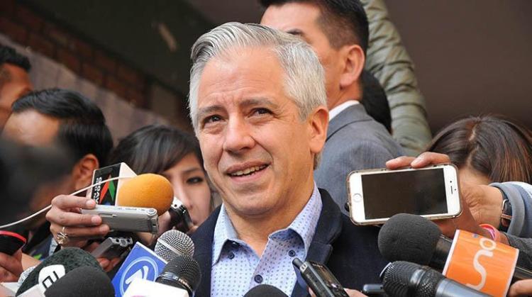 El vicepresidente, Álvaro García Linera.   Foto archivo   Agencias