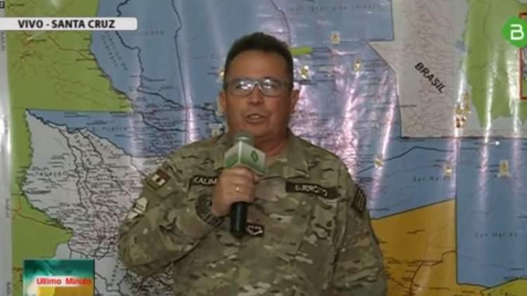 El comandante de las FFAA reporta diariamente sobre los operativos en la Chiquitania