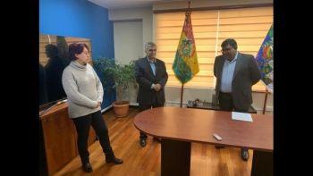 Omar Quiroga (al centro) es el nuevo director de la ABT