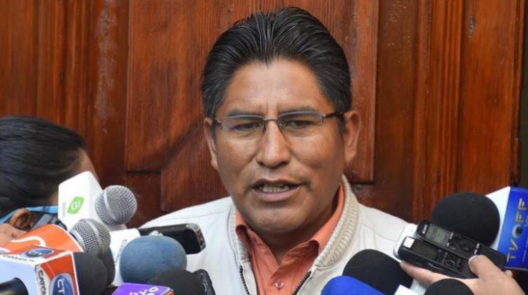 El gobernador de La Paz, Félix Patzi. | APG