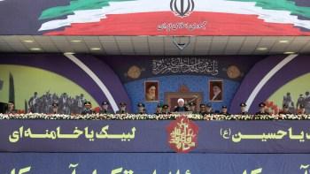 Hasán Rohaní pronuncia el discurso de apertura del desfile militar por la Semana de la Defensa Sagrada en Teherán (Irán), el 22 de septiembre de 2019. WANA / Reuters