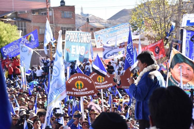 El presidente de Bolivia, Evo Morales en Oruro. ABI