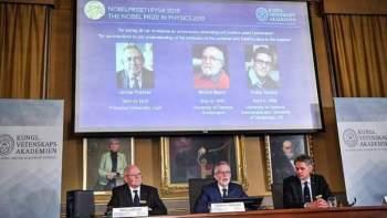 James Peebles, Michel Mayor y Didier Queloz son premio Nobel de Física. / EFE