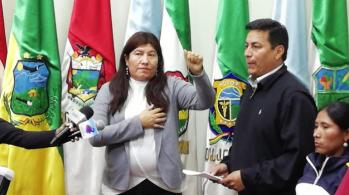 Esther Soria, Gobernadora interina de Cochabamba
