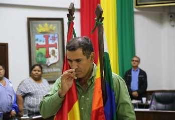 Miguel Ángel Hurtado Áñez, Alcalde interino de Montero.