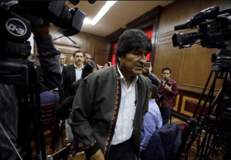Evo Morales en Ciudad de México el 27 de noviembre (REUTERS/Luis Cortes)
