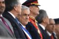 El presidente de Chile, Sebastián Piñera, durante un desfile militar en Santiago el 19 de septiembre 2019 (Álex Ibáñez/Cortesía de la Presidencia de Chile/Entrega vía Reuters)