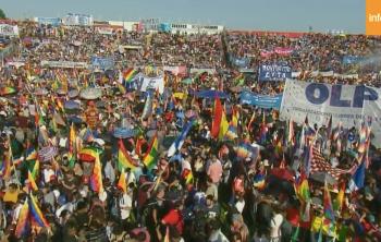 Concentración en Buenos Aires. Foto captura de pantalla.