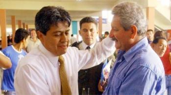 Mario Cossío, líder de Camino al Cambio y Rubén Costas, líder de Demócratas