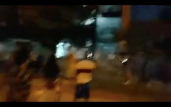 Jóvenes apedrearon el juzgado de Bermejo. Foto: Captura de pantalla