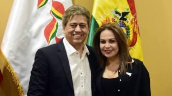 Roxana Lizárraga y Mario Cossío