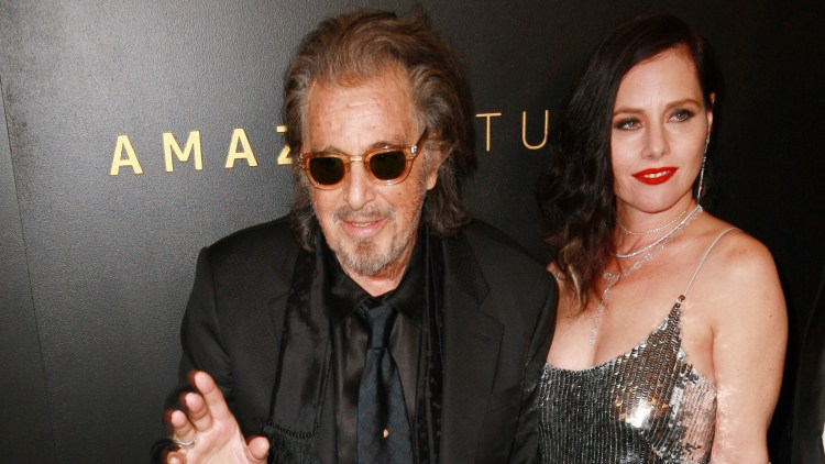 Mandatory Credit: Photo by MediaPunch/Shutterstock (10519384b) Al Pacino and Meital Dohan Amazon Golden Globes After Party, Arrivals, Los Angeles, USA - 05 Jan 2020