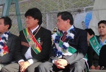 Never Vega junto a Evo Morales