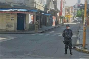 Las calles desoladas en cuarentena en Tarija