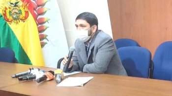 El viceministro de Transparencia Guido Melgar en conferencia de prensa. Foto- Captura