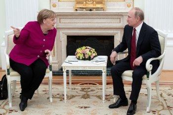 Angela Merkel y Vladimir Putin (Reuters)